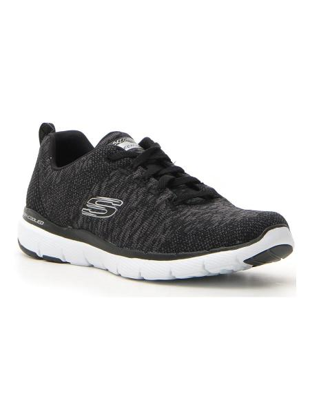 SNEAKERS SKECHERS FLEX APPEAL 3.0 donna bianco/nero | Pittarello